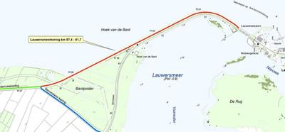 Kaart met daarop aangegeven het projectgebied