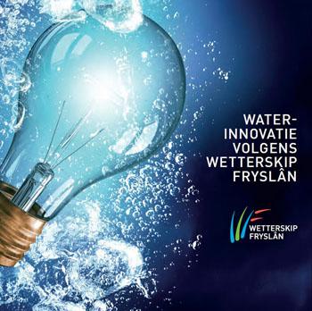 Omslag van het boekje waterinnovaties volgens Wetterskip Fryslân